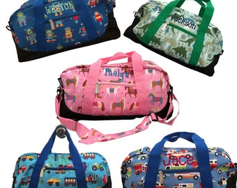 Christmas Gifts Kids Personalized Children's Travel Bag Overnight Duffle Bags, Toddler Duffle Bag, Kids Tote Bag, Air Travel Carry On Bags