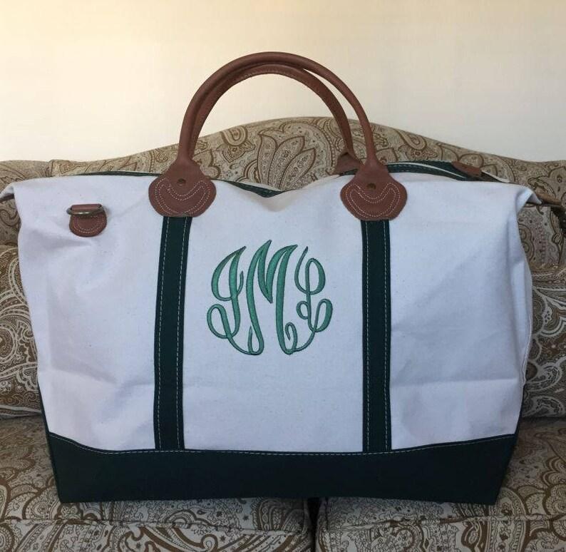 eeac155ee0 Personalized Navy Duffle Bag Monogram Weekender Navy Bag