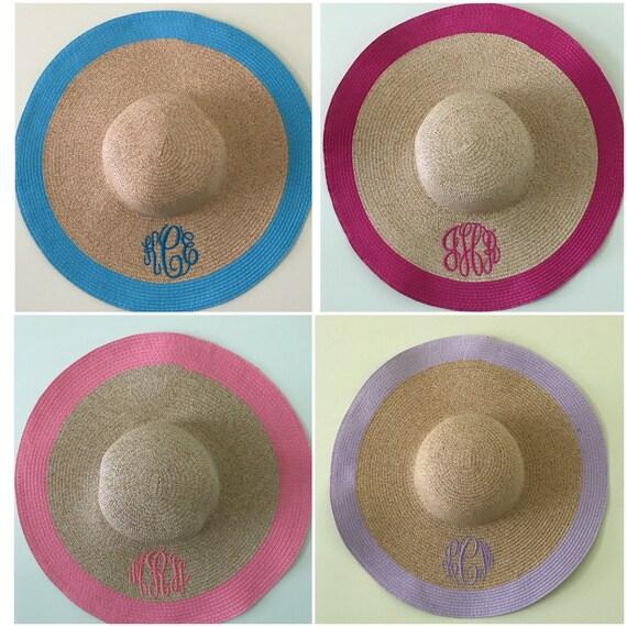 f601e013d58 Bachelorette Floppy Hat Bridal Party Beach Hats Bridesmaid