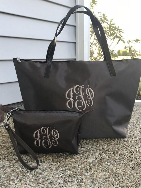Women s Monogram Medium Nylon Bag Custom Name Gift Bag  08d3de6d9