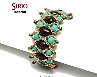 Tutorial Sirio Bracelet - beading pattern
