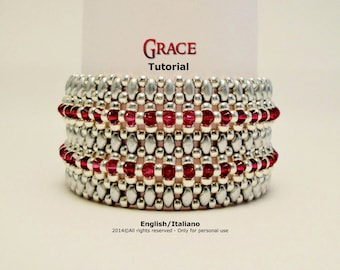 Tutorial Grace Bracelet - beading pattern