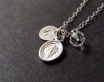 Virgin Mary necklace, religious jewelry, amulet pendant, protection jewelry, Christmas gifts for her