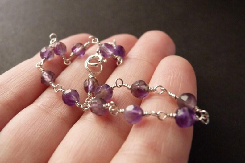 lapis lazuli or green aventurine stone Beaded bracelet for women amethyst sterling silver jewelry CLEARANCE SALE