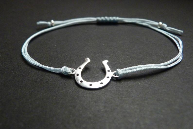 Silver Good Luck Wedding Bracelet Sterling Silver Horseshoe Bracelet Bridal