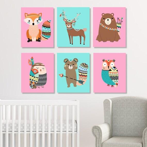 TRIBAL Nursery Wall Art Girl Tribal Nursery Decor Prints Or | Etsy
