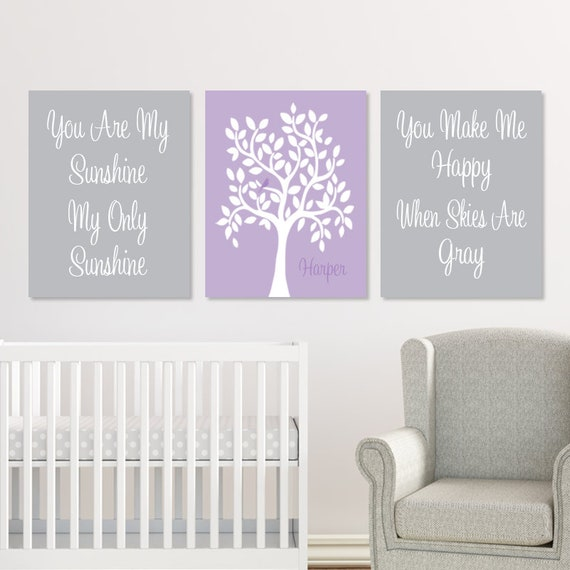 Girls Nursery Decor CANVAS You Are My Sunshine Wall Art Elephant Single Print Pink