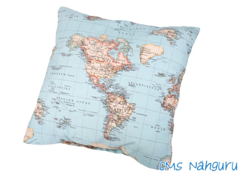 Europe map pillow | Etsy