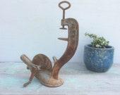 Primitive Farmhouse Antique Cast Iron quot ENTERPRISE quot 16 Hand Crank Cherry Pitter Stoner PHILA USA 1883, Rustic Metal Vintage Kitchen Tools