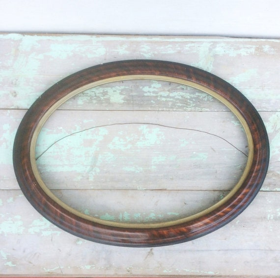 Antique Edwardian Wood Oval Picture Frame Wall Hanging French Etsy