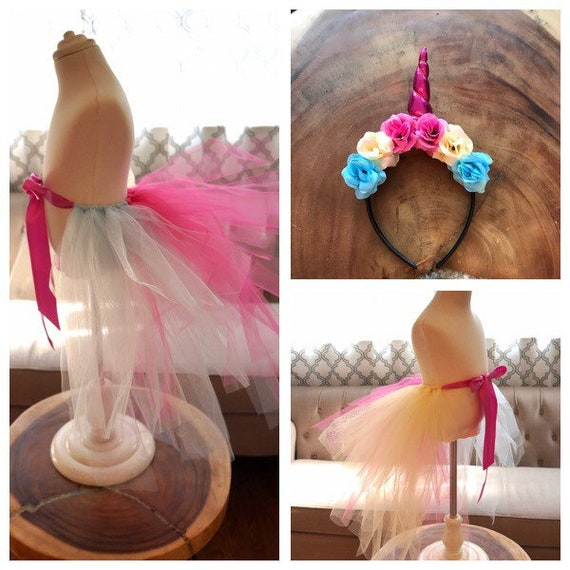 Unicorn Tail and Headband  1f1d33da4ea