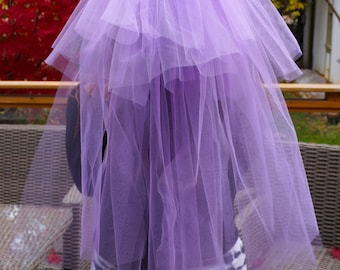 Purple Bachelorette Veil - Veil Clip - Bridal Shower Veil