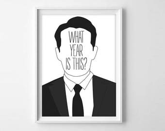Twin Peaks Art Print - What year is this