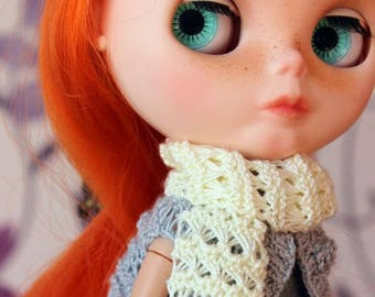 Lace white scarf  for Blythe, Azone Pure Neemo