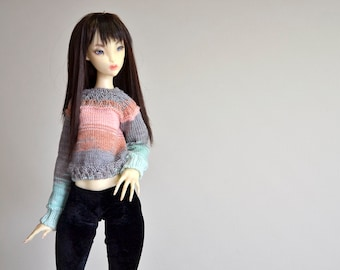 Multicolored sweater for SD Lillycat doll