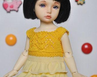 Yellow sundress for YoSD BJD (BID)