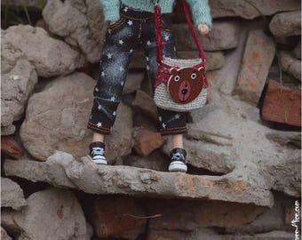 Bear bag for Blythe, azone pure neemo, 1/6 dolls