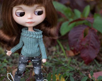 Blythe sweatshirt Doll knitted sagebush sweater Long-sleeve for Blythe Azone pure neemo clothing Doll knitted clothes