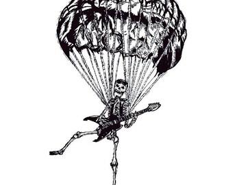 Brotato parachuting guitarist