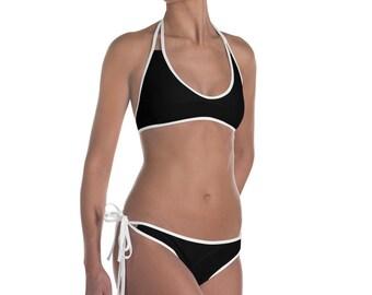 Black with White Bikini