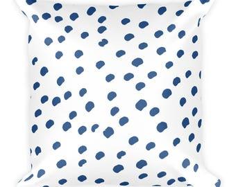 Coussin carré bleu motif 9. Coussin décoratif. Mélanger le coussin.