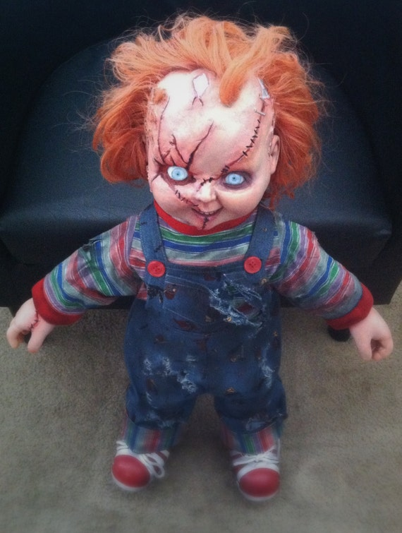 TALKING Life Größe CHUCKY Doll Charles Lee Ray Replica   Replica  Etsy 56944d