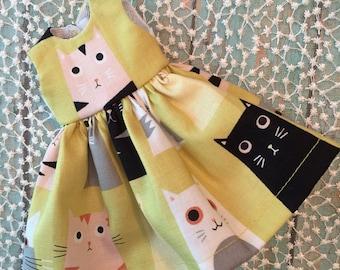 SALE - Green Cat Dress