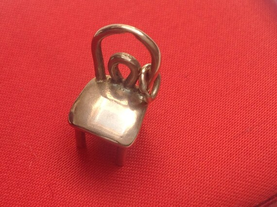 Vtg 70s 9ct Gold Polished Chair Charm
