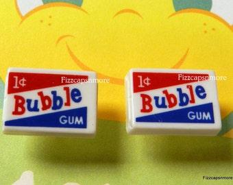Bubble Gum Post Earrings W/ Nickel Free Backs