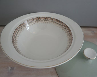 Grindley Satin White Ironstone Lidded Tureen / Serving Dish 1950's Retro Vintage Mid Century