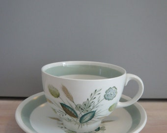 Woods Ware Clovelly Coffee Cup & Saucer 1950's Retro Vintage Mid Century