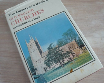 The Observer's Book Of Old English Churches 1973 Edition Pocket Guide Retro Vintage Mid Century