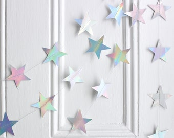 Colorful Wooden Star Banner Party Kids Room Wall Hanging Bunting Garland #5