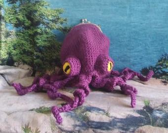 Octopus Purse, Shoulder Bag, Crochet Octopus Purse, Functional Art, Unique Gift, Octopurse, Made to order