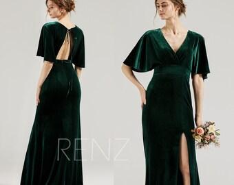 Green Bridesmaid Dress Etsy