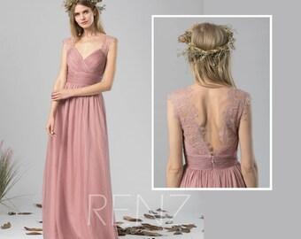 1d4bf0d286e Bridesmaid Dress Dusty Rose Chiffon Dress Wedding Dress