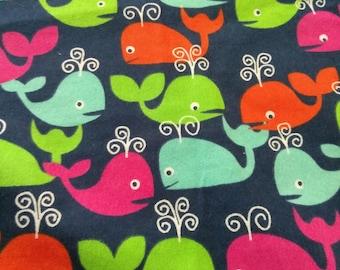 Blanket-Girls Receiving & Stroller Whales