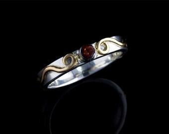 Handmade Lace Filigree Thin Band 18k Gold Ribbon Ring, Custom Made to Order