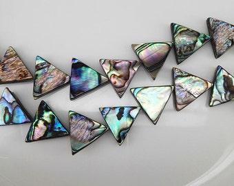 26 pcs 17x5mm Abalone Shell Triangle Beads Paua Shell Beads