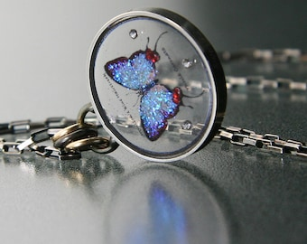 Floating Butterfly Pendant by Jackie Taylor Designs