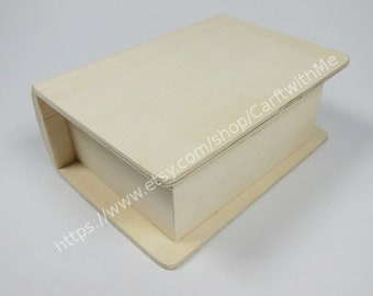Small Wooden Box / Book Box / natural unfinished wood box / Storage Box / Container
