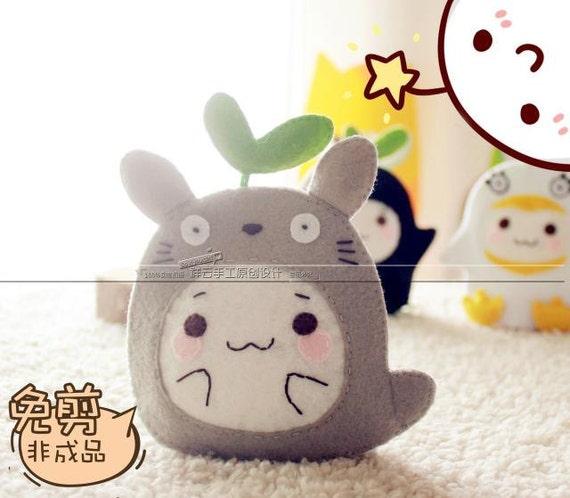 Diy Craft Kit Totoro Felt Key Holder Keychain Cute Kawaii Etsy