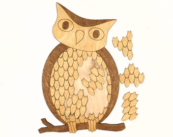 Hoot Owl Wooden Puzzle