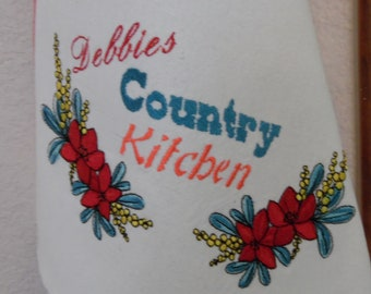 Personalized Embroidered, Aunti Em's Kitchen Dish Towels, Vintage Design, Kitchen Decor Super Absorbent 100% Natural Cotton Kitchen Towels