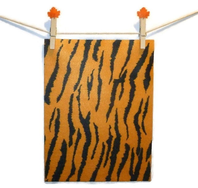 Felt Animal Pattern Felt Tiger Print Felt Sheets Orange Etsy - Orange print sheets