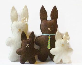Cute easter gifts etsy bunny family bunnies stuffed animal bunny brown bunny brown bunnies easter gift easter basket gift for her cute bunnies easter negle Image collections