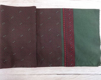 "Vintage Hipster Mens silk wool scarf 120cm x 26cm / 47.2"" x 10.2"""