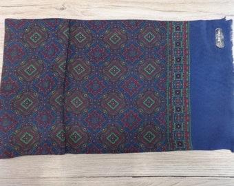 "Vintage Mens wool blend scarf 113cm x 25cm / 44.4"" x 9.8"""