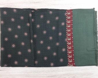"Vintage Hipster Mens silk scarf 110cm x 24cm / 43.3"" x 9.4"""