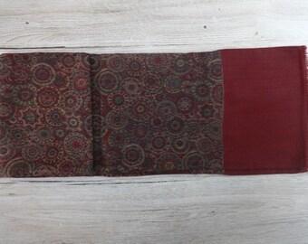 Mens Scarf silk wool blend Vintage